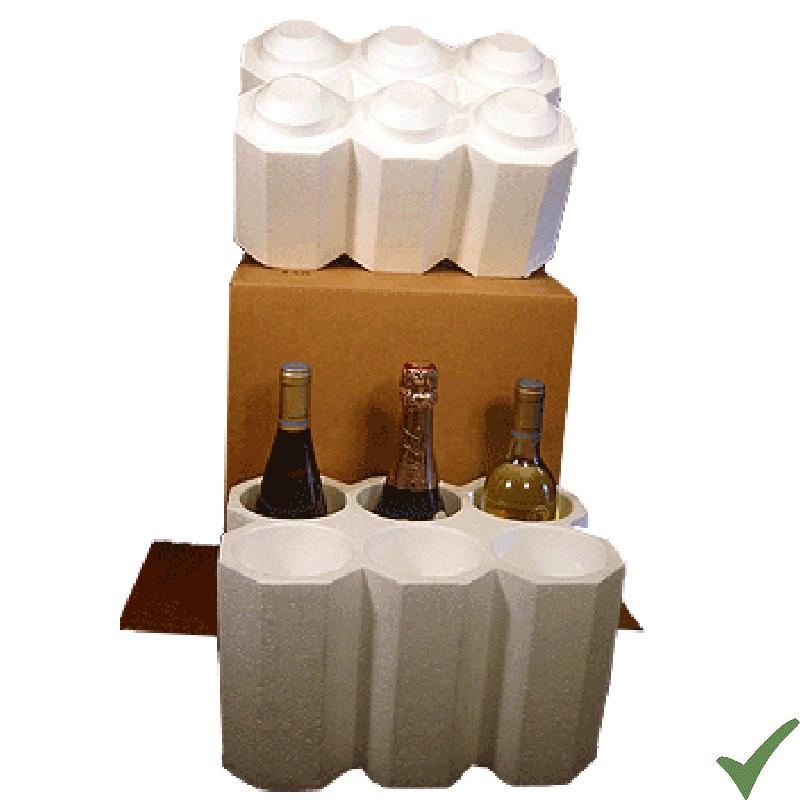 Imballaggio idoneo per bottiglie di vino