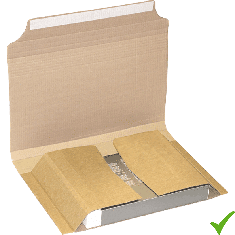 Esempio di imballaggio di un libro