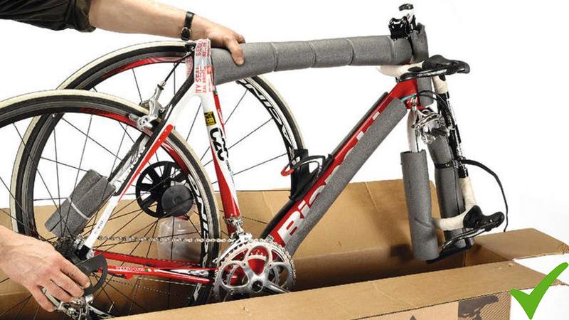 Bicicletta dentro la scatola