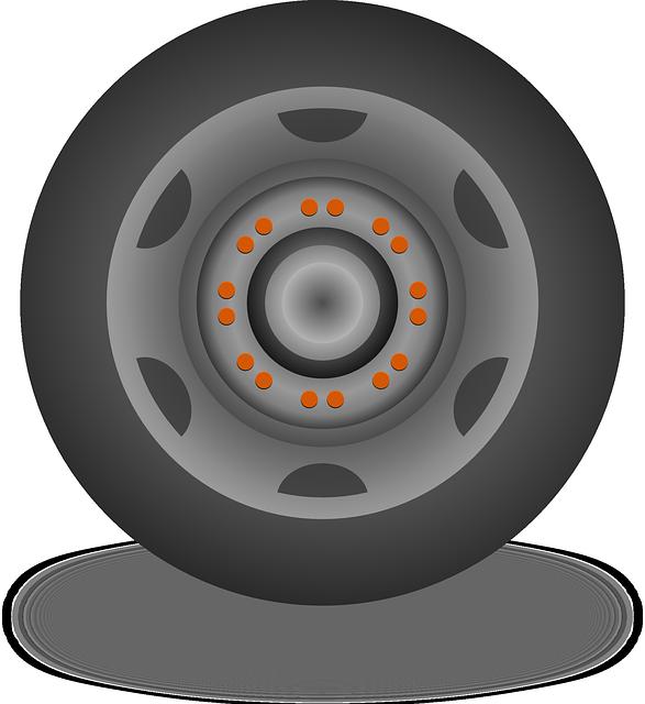 Cerchio e gomma di una macchina
