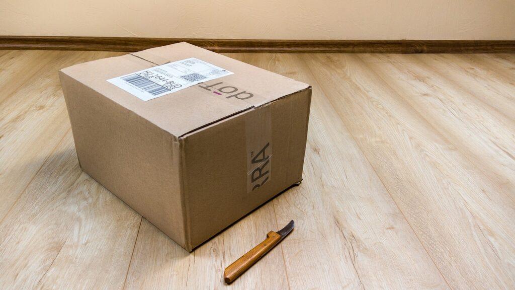 Un pacco da essere spedito