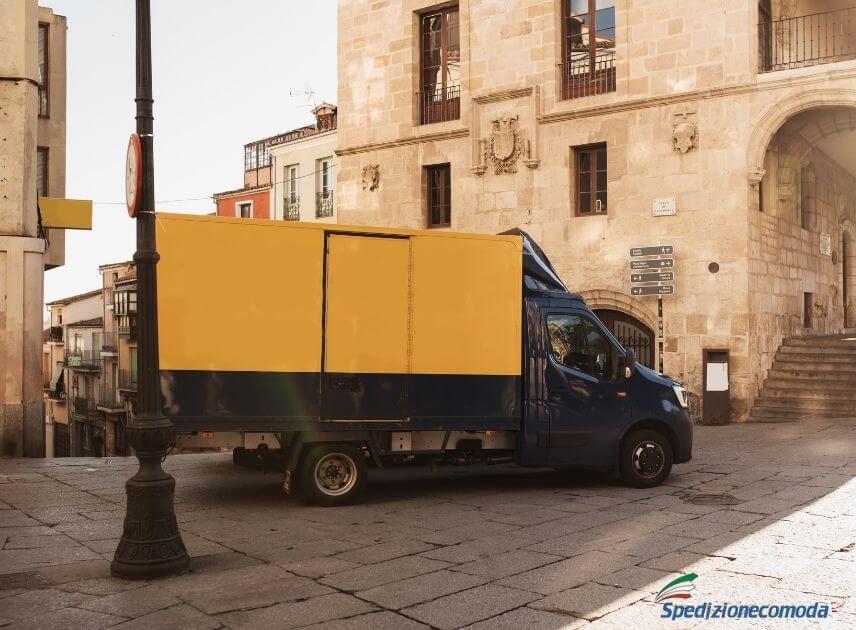 Consegna di una spedizione in Spagna