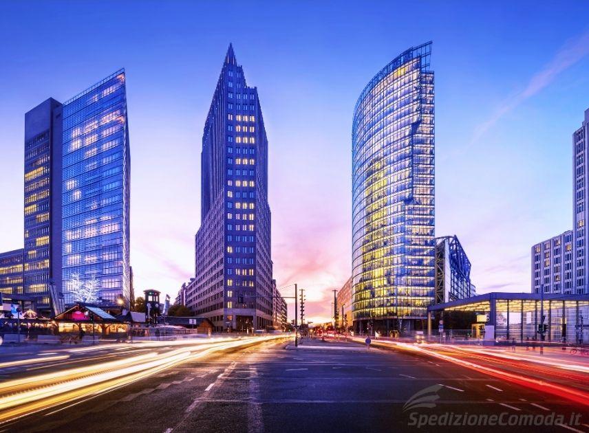 Vista della Potsdamer Platz di Berlino