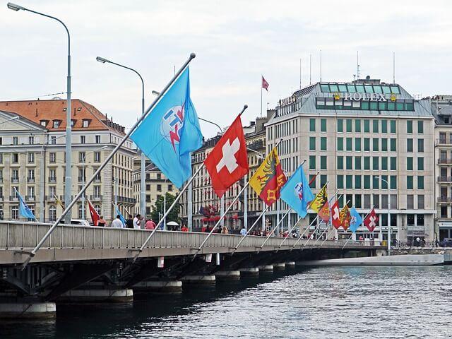 Ponte del Monte Bianco a Ginevra