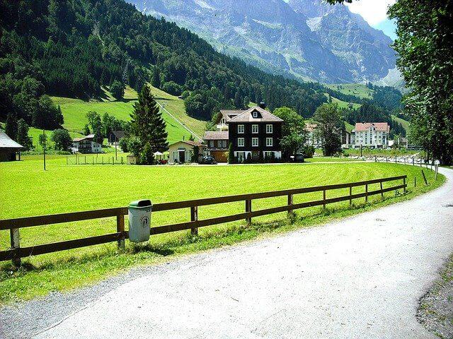Villaggio remoto della Svizzera