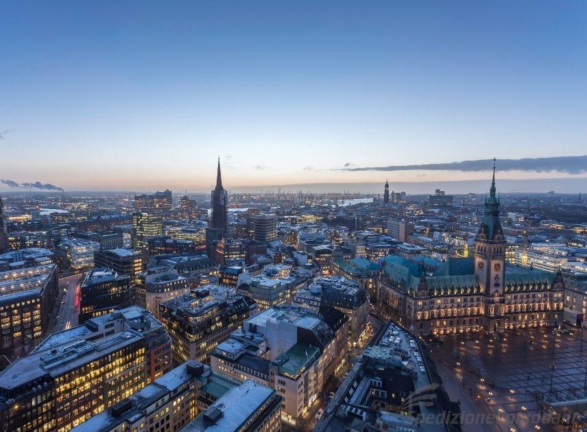 Vista di Amburgo in Germania