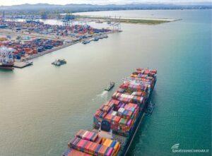 Porto australiano dove arrivano le spedizioni marittime dall'Italia