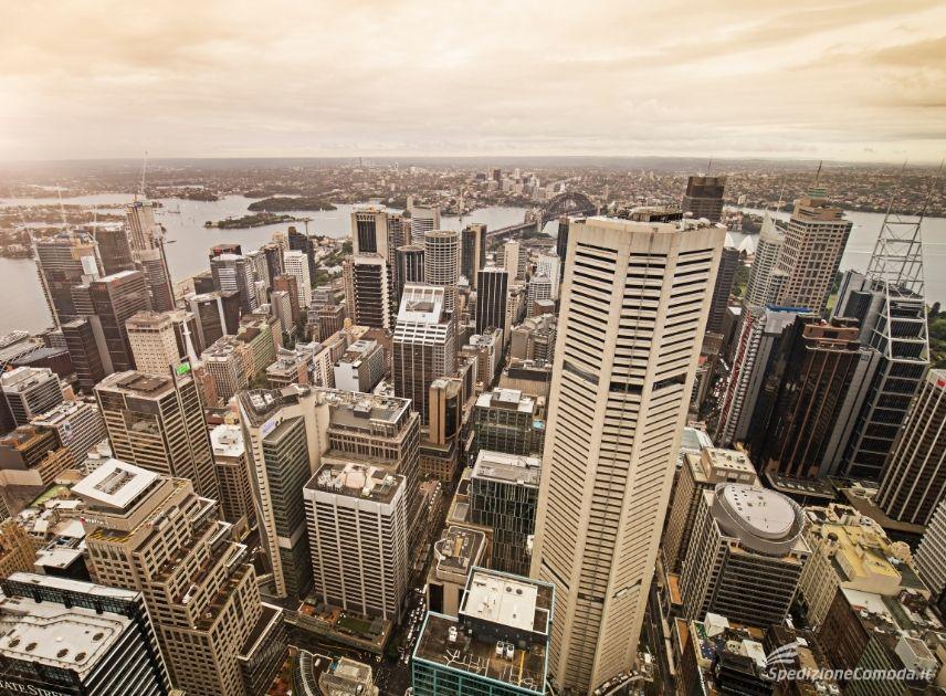 Centro di Sydney, principale destinazione delle spedizioni