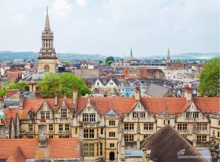 Vista della città di Oxford
