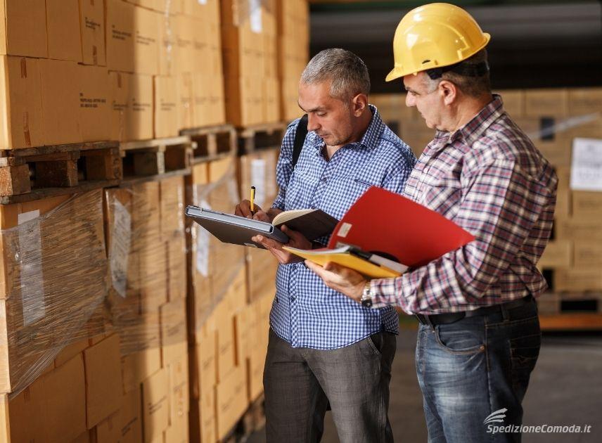 Controllo doganale di un'esportazione