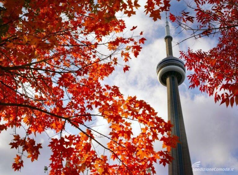 Toronto a la sua CN Tower: la principale destinazione per pacchi da spedire in Canada