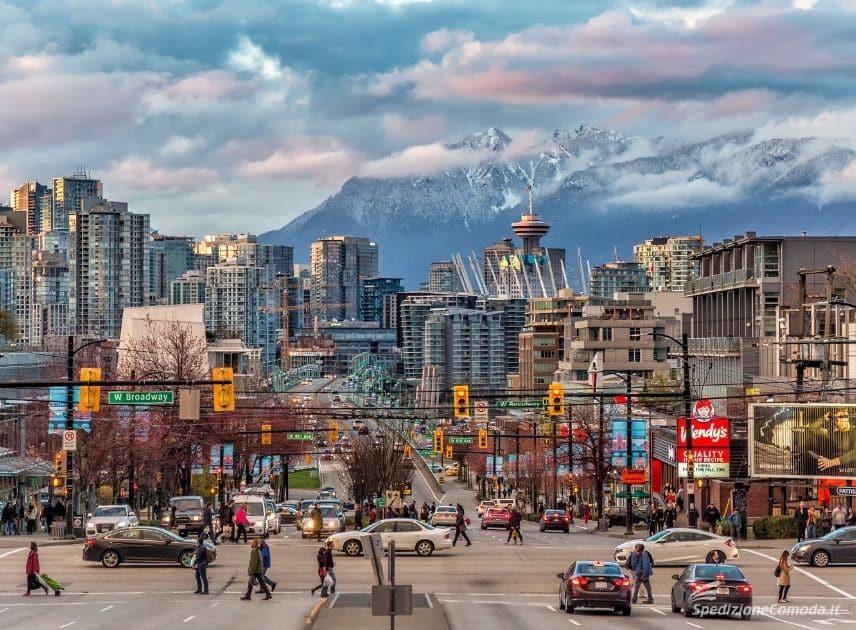 Vancouver, una delle mete di spedizioni di pacchi in Canada