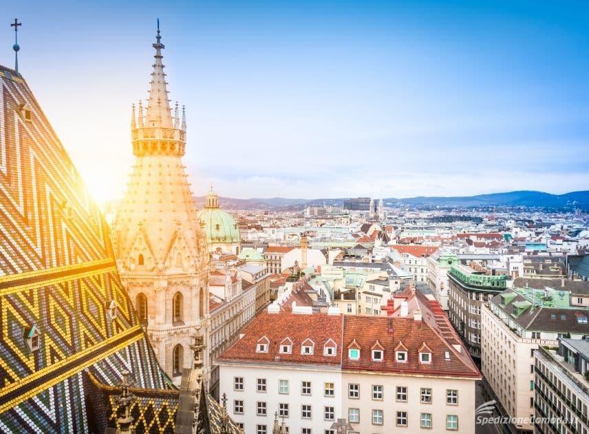 Vista di Vienna dalla cupola della cattedrale di Santo Stefano