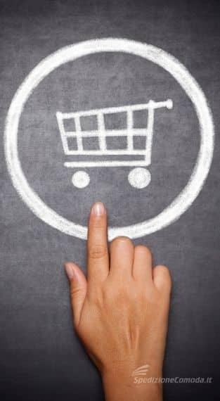 Simbolo del carrello di un ecommerce