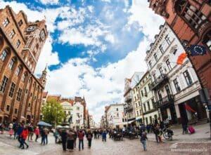 Scorcio del centro di Torun, una delle mete per spedire pacchi in Polonia