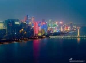 Hangzhou, importante centro industriale della Cina